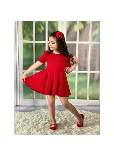 Quzucuk Kids Elbise Kırmızı